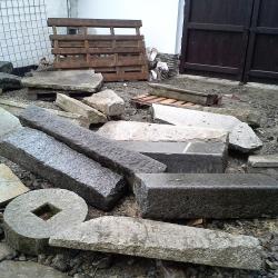 Kamenné schody -pred sestavením