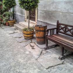 Oprava kamenné přídlažby Mincovna Český Krumlov
