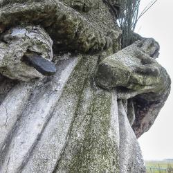 Svatý Jan Nepomucký - Hosín - před opravou