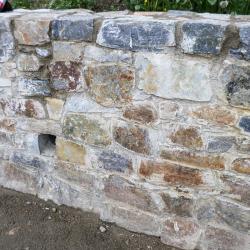Kamenná zeď Horská zahrada - Český Krumlov
